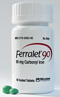 Ferralet 90 Available For Anemia Treatment Ona