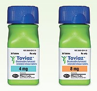 TOVIAZ (Fesoterodine) 4mg, 8mg tablets from Pfizer