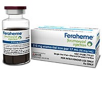 FERAHEME (Ferumoxytol) 30mg/mL injection by AMAG Pharmaceuticals