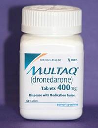 MULTAQ (Dronedarone) 400mg tablets from sanofi-aventis