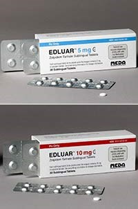 EDULAR (zolpidem tartrate) 5mg, 10mg sublingual tablets by Meda Pharmaceuticals