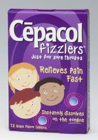 CEPACOL FIZZLERS (benzocaine) 6mg tablets by Combe Inc.