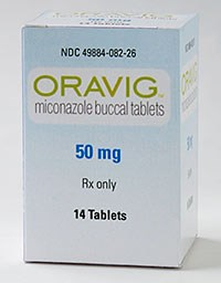 ORAVIG (miconazole) 50mg buccal tablets by Strativa