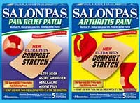 SALONPAS PAIN RELIEF PATCH and ARTHRITIS PAIN (10% methyl salicylate and 3% I-menthol) by Hisamitsu