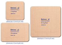 Morphine patches butrans transdermal patch