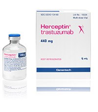 HERCEPTIN (trastuzumab) 440mg/vial lyophilized powder for IV infusion by Genentech
