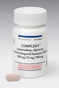 COMPLERA (emtricitabine/rilpivirine/tenofovir disoproxil fumarate) tablet by Gilead