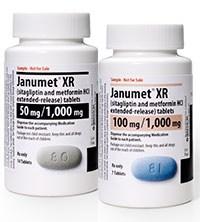 JANUMET XR (sitagliptin and metformin HCl extended-release) 50mg/1000mg;100mg/1000mgtablets by Merck