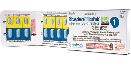 RIBASPHERE RIBAPAK (ribavirin) 200mg, 400mg tablets by Kadmon Pharmaceuticals