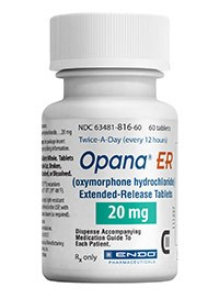 OPANA ER (oxymorphone HCl) 20mg extended-release tablets by Endo Pharmaceuticals