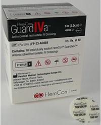 GUARDIVA (chlorhexidine gluconate) antimicrobial hemostatic IV dressing by HemCon