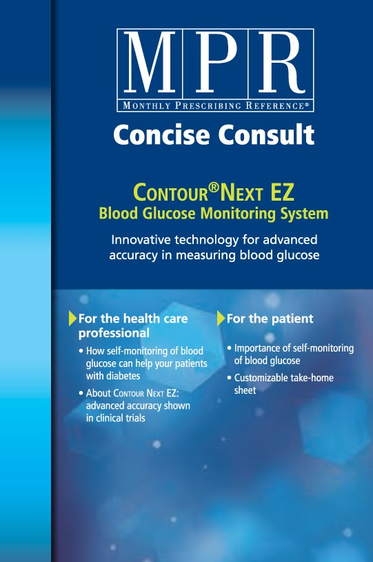 Concise Consult: CONTOUR<sup>®</sup>  NEXT EZ - Blood Glucose Monitoring System