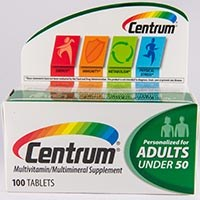 CENTRUM nutritional supplement for adults by Wyeth Consumer Healthcare