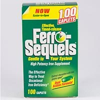 FERRO-SEQUELS (iron [as fumarate] 50mg/docusate sodium 100mg) sust-rel tablets by Inverness