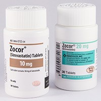 ZOCOR (simvastatin) 5mg, 10mg, 20mg, 40mg, 80mg tablets by Merck & Co.