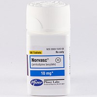 NORVASC (amlodipine [as besylate]) 2.5mg, 5mg, 10mg tablets by Pfizer