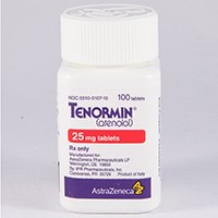 TENORMIN (atenolol) 25mg, 50mg, 100mg tablets by AstraZeneca Pharmaceuticals
