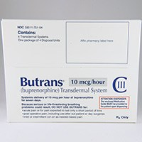 BUTRANS (buprenorphine) 5mcg/hr, 10mcg/hr, 20mcg/hr transdermal patch by Purdue