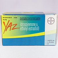 YAZ (drospirenone and ethinyl estradiol) tablets by Bayer Healthcare