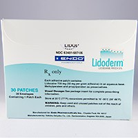 LIDODERM (lidocaine) 5% adhesive patch by Endo