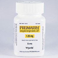 PREMARIN (conjugated estrogens) 0.3mg, 0.45mg, 0.625mg, 0.9mg, 1.25mg tablets by Pfizer