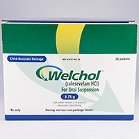 WELCHOL FOR ORAL SUSPENSION (colesevelam HCl) 1.875g, 3.75g powder packets by Daiichi Sankyo