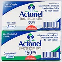 ACTONEL (risedronate [as sodium]) 5mg, 30mg, 35mg, 75mg, 150mg tablets by Warner Chilcott