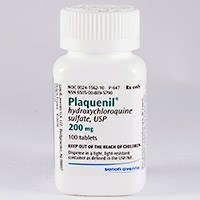 PLAQUENIL (hydroxychloroquine sulfate) 200mg tablets by Sanofi Aventis