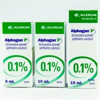 ALPHAGAN P (brimonidine tartrate) 0.1% ophthalmic. solution; contains purite.