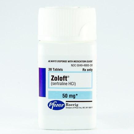 ZOLOFT (sertraline [as HCl]) 50mg scored tablets