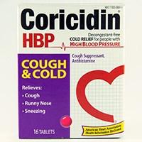CORICIDIN HBP COUGH & COLD (chlorpheniramine maleate / dextromethorphan HBr) tablets