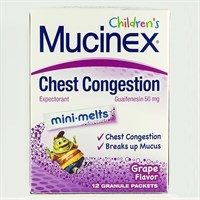 CHILDREN'S MUCINEX MINI-MELTS (guaifenesin) 50mg per packet