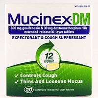 MUCINEX DM (dextromethorphan HBr 30mg + guaifenesin 600mg) extended-release tablets
