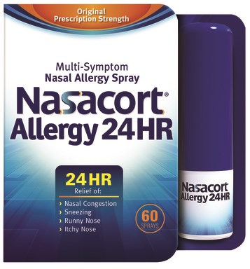 OTC Nasacort Allergy 24hr Nasal Spray Now Available