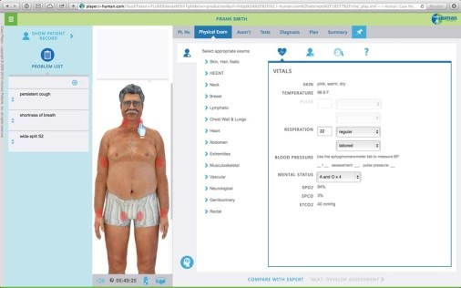Real Symptoms, Virtual Patients: Med School Training Goes High-Tech