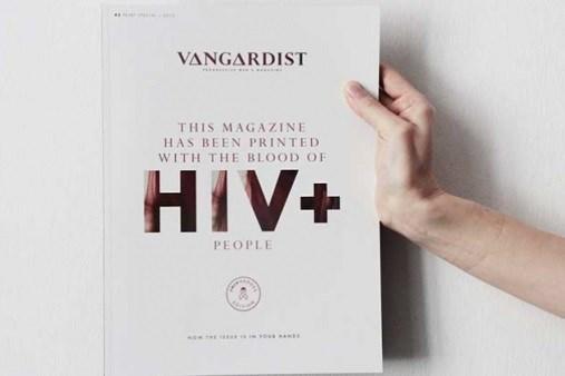 HIV+ Blood-Infused Ink on Magazine Cover Seeks to End Silence, Break Stigma