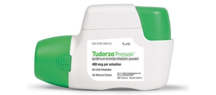 Tudorza Pressair is for treatment of bronchospasm associated with COPD