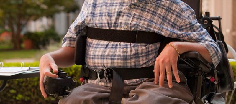 man MS wheelchair
