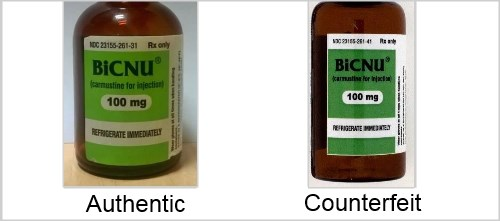 BiCNU vials should be examined carefully by HCP to ensure authenticity