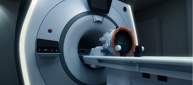 The device targets tissue in the thalamus, which is thought to be responsible for causing tremors