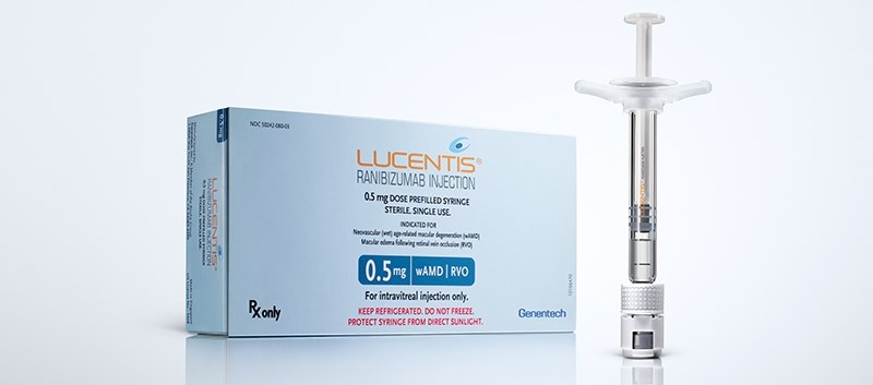 This approval makes Lucentis the first anti-VEGF pre-filled syringe to treat both eye conditions