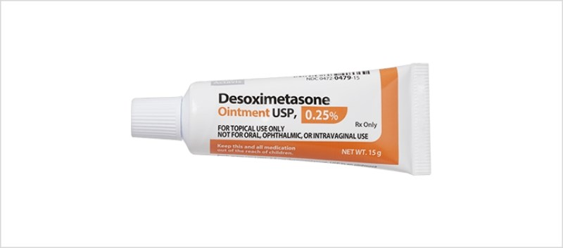 Desoximetasone is indicated for inflammatory and pruritic manifestations of corticosteroid-responsive dermatoses