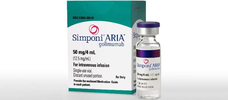 Simponi Aria is already approved for use as an IV infusion to treat moderate to severe active rheumatoid arthritis