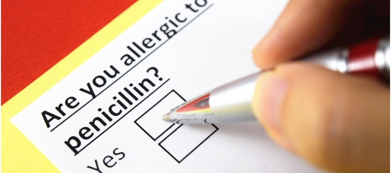 Penicillin allergy is the most frequent form of drug allergy