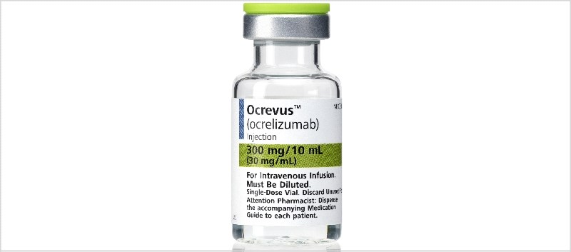 In a pooled analysis of the studies, treatment with Ocrevus lowered the relapse rate by over half