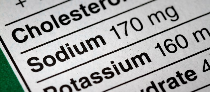 Results showed that just 10 foods provided 44%, and 25 provided 70%, of daily sodium intake