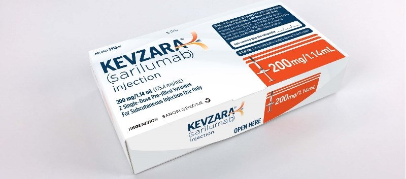 The Kevzara approval was supported by Phase 3 trial data that included approximately 2,900 adults with RA