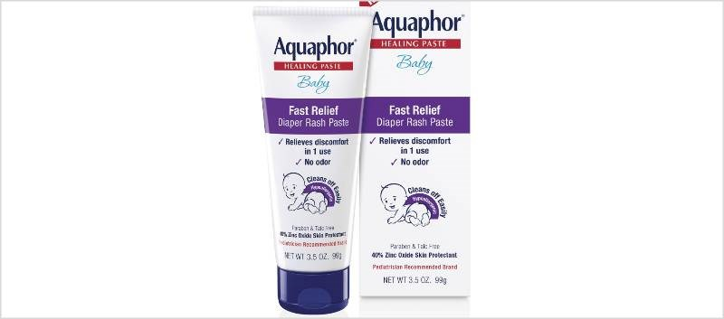 Aquaphor Baby Fast Relief Paste Available for Diaper Rash