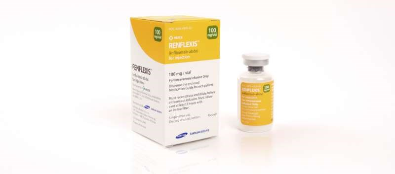 Renflexis is being commercialized by Merck and is available as 100mg single-dose vials for IV injection