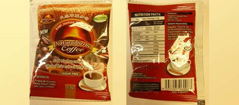FDA: Coffee Products Laced with Active Pharmaceutical Ingredients